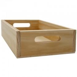 Caja madera natural 22x14.5x5.5cm