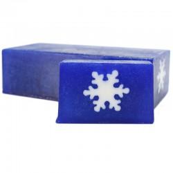 Jabón diseño copo nieve Navidad - coco y chocolate