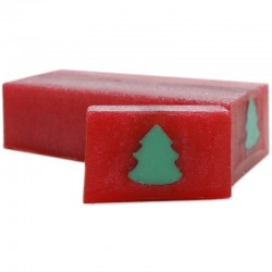 Jabón diseño abeto Navidad - canela y naranja