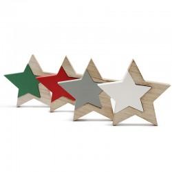 4 Estrellas puzzle madera 2 piezas