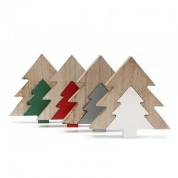 4 Abetos puzzle madera 2 piezas