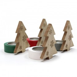 4 Soportes vela Navidad - abeto