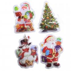 12 Pegatinas Navidad brillante - selección 2