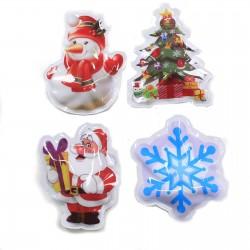 12 Pegatinas Navidad brillante - selección 3
