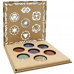 Juego piedras 7 chakras caja - símbolos chakra