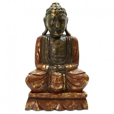 Estatua Buda madera tallada 40cm - rubí