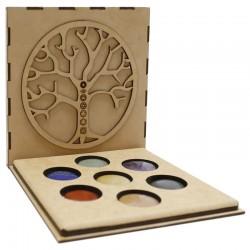 Juego piedras 7 chakras caja - árbol de la vida