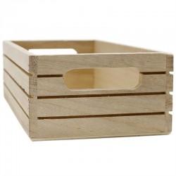 Caja madera natural líneas 20x13x7cm