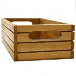 Caja madera caoba líneas 20x13x7cm