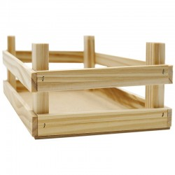 Caja madera natural multiusos 22x16.5x9cm