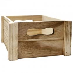 Caja madera natural 18x18x9.5cm