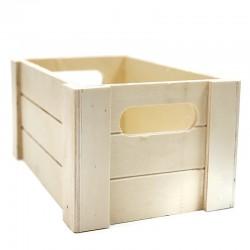 Caja madera natural listones 20x12.5x9.5cm