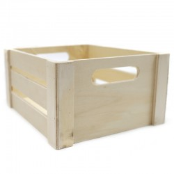 Caja madera natural 22x19x11cm