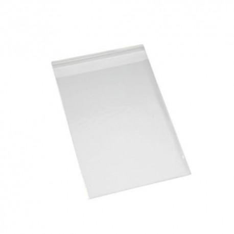 Pack 500 unds. bolsa PP con solapa adhesiva 8x12