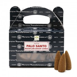 6 Packs 24 conos incienso reflujo Satya - Palo Santo