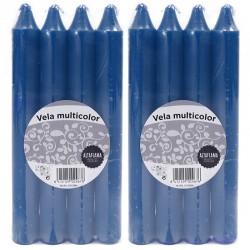 24 Velas candelabro - 24 Azul