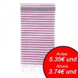 Fouta con toalla 90x180cm - fucsia