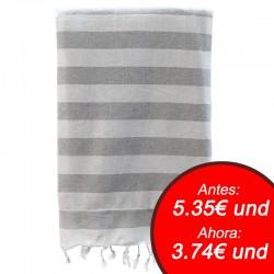 Fouta con toalla 90x180cm - gris