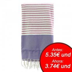 Fouta con toalla 90x180cm - fucsia y morado