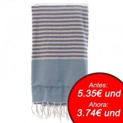 Fouta con toalla 90x180cm - azul