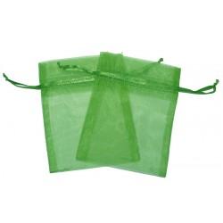 30 Bolsas organza 10x13cm - Verde