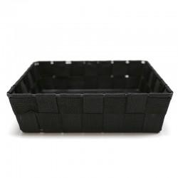 4 Cestas nylon cuadradas negro