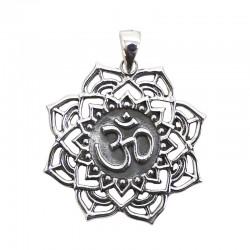 Colgante plata - Om flor loto