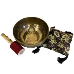 Set de Regalo cuenco de Bronce - Buda oro