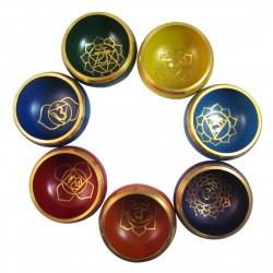Set 7 cuencos tibetanos - Chakras