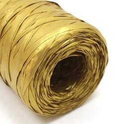 Rollo rafia sintética 200m - dorado