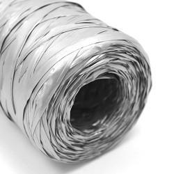 Rollo rafia sintética 200m - plateado
