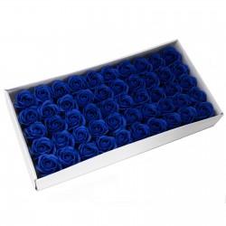 50 Flores manualidades deco mediana - azul royal