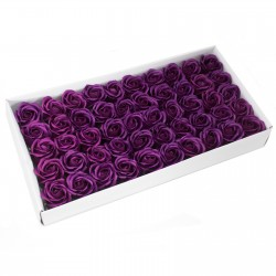 50 Flores manualidades deco mediana - violeta
