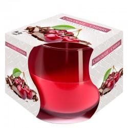 6 Velas perfumadas en vaso - Chocolate y cereza