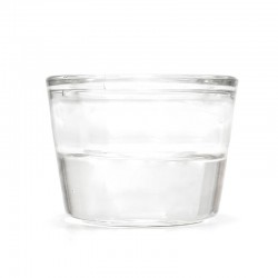 12 Soportes vela cristal - vaso