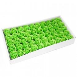 50 Flores manualidades deco mediana - verde