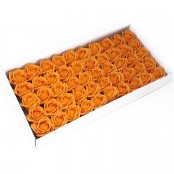 50 Flores manualidades deco mediana - naranja