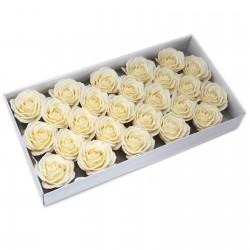 25 Flores manualidades deco grande - marfil