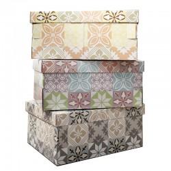 6 Caja cartón multiusos vintage