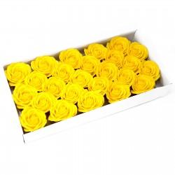 25 Flores manualidades deco grande - amarillo