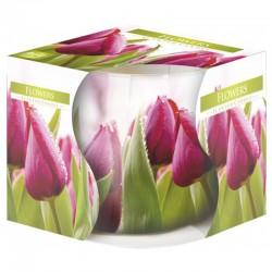 6 Velas perfumadas en vaso - Flores