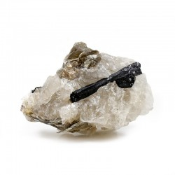 Turmalina matriz cuarzo roca - 300-500 grs.