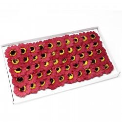 50 Flores girasol manualidades deco mediana - roja