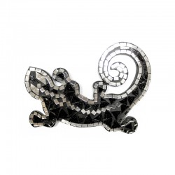 Mosaico Salamandra - Rojo/Blanco/Negro