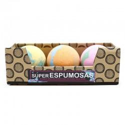 Bombas baño súper espumosa - tricolor