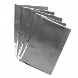 Papel plateado para envolver jabón 24.5 x 16.5cm - (500 aprox)