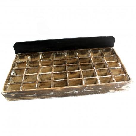 Expositor bandeja de madera 40 separadores