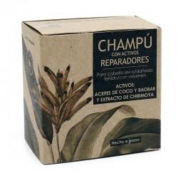 3 Champú sólido para cabello seco - con activos REPARADORES
