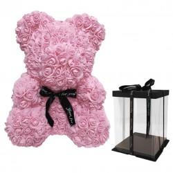 Oso decorativo rosas 25cm - rosa