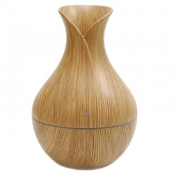 Humidificador aroma forma tulipán madera pino